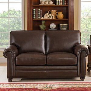 Coventry Top Grain Leather Loveseat by Westl..