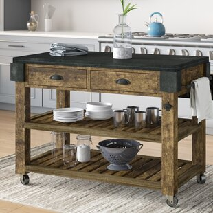Shaan Kitchen Island with Granite