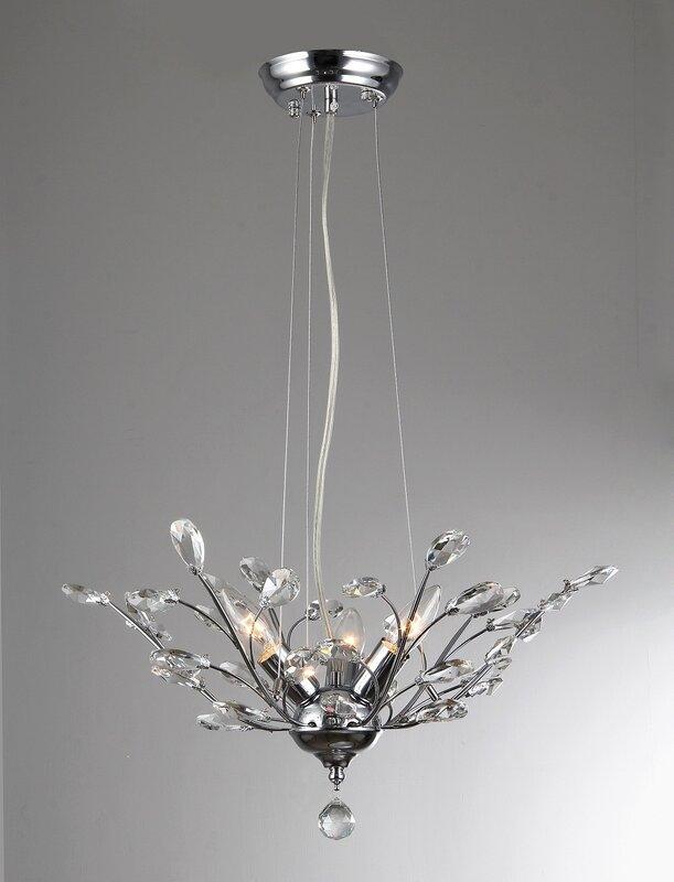 Pendentif En Cristal à 3 Lumières, Miel