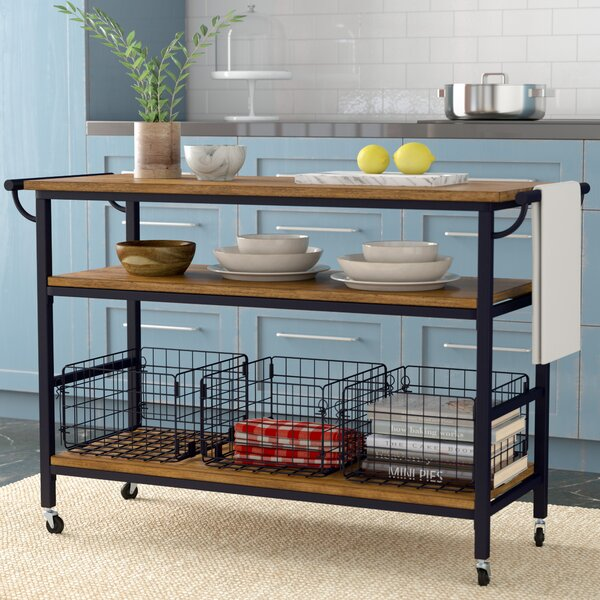 Commercial Kitchen Cart Cutting Professional Table: Laurel Foundry Modern Farmhouse Fresnay Kitchen Island