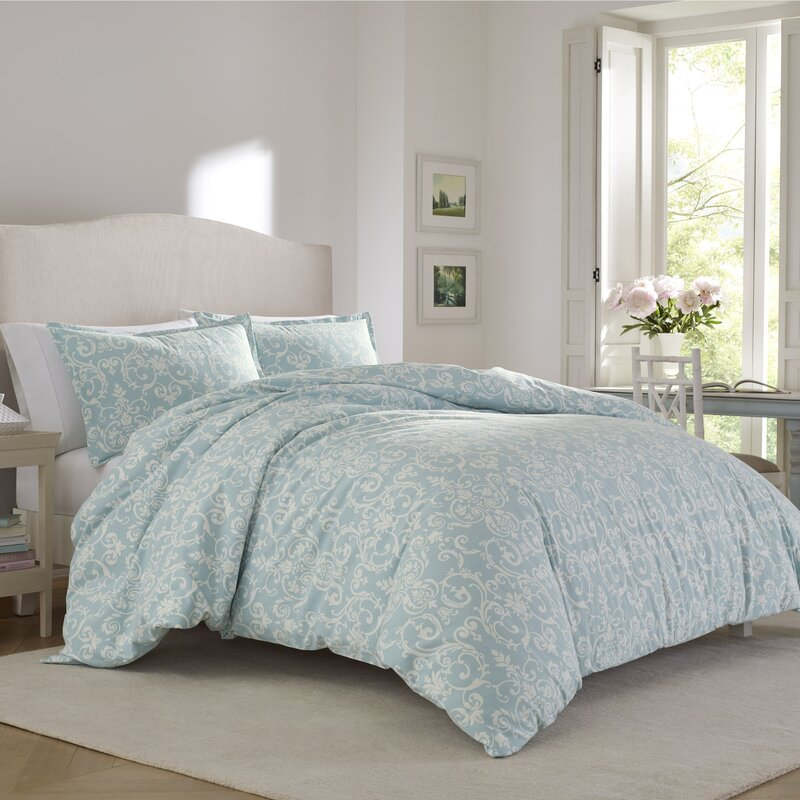 Kensington Scroll Flannel Comforter Set by Laura Ashley Home. Laura Ashley Home Kensington Scroll Flannel Comforter Set by Laura