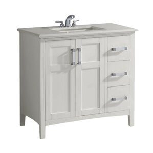 37 inch bathroom vanity. Bahamas 37  Single Bathroom Vanity Set 18 Inch Deep Wayfair