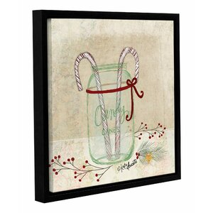 Candy Cane Framed Painting Print on Wrapped Canvas