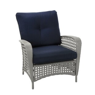 Lowprice Edwards Patio Chair with Cushion Set of 2 Highland Dunes