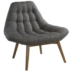 Oversize Waffle Tufted Fabric Lounge Chair b..