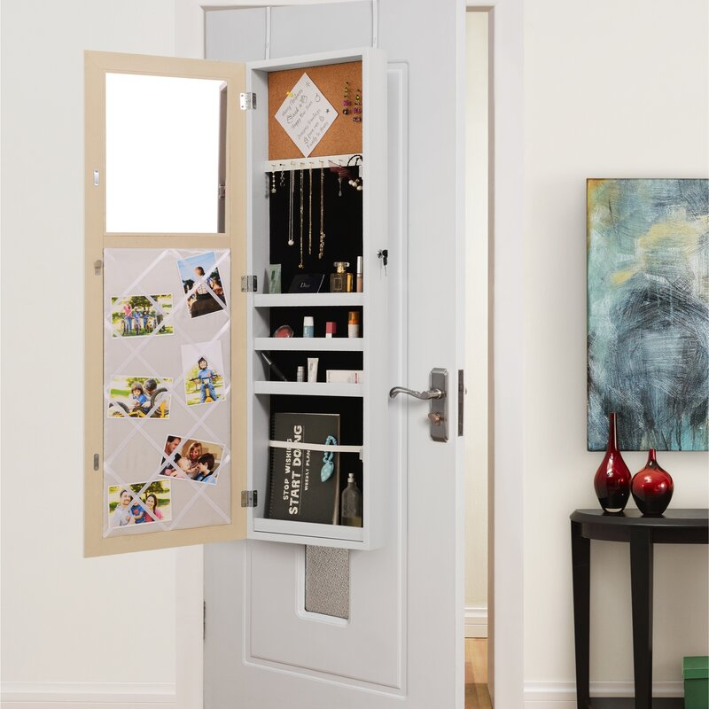 Genial Rieves Over The Door Makeup Storage Jewelry Armoire With Mirror
