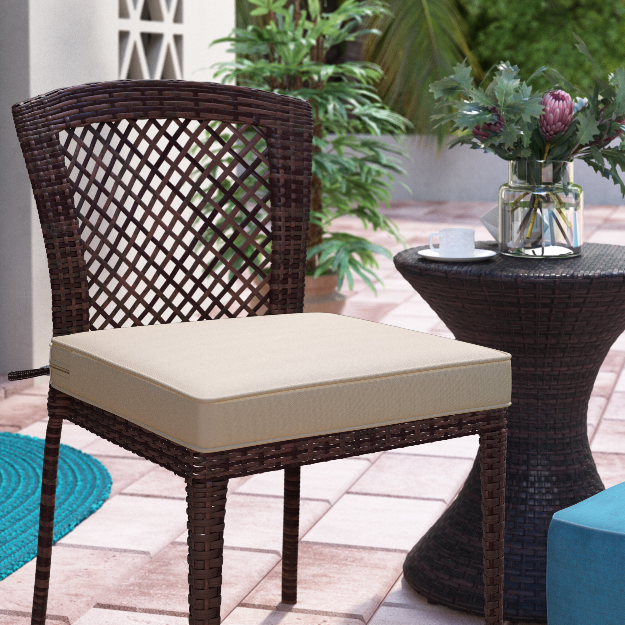 Fabulous Searcy Fadesafe Outdoor Lounge Chair Cushion Caraccident5 Cool Chair Designs And Ideas Caraccident5Info