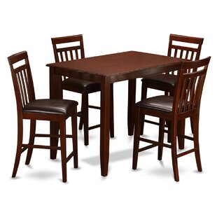 Buckland 5 Piece Counter Height Dining Set Cheap