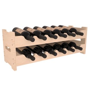 Karnes Pine Mini Scalloped 12 Bottle Tabletop Wine Rack by Red Barrel Studio