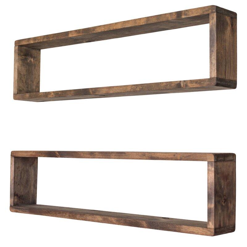 Hampden Stackable Long Box Wall Shelf