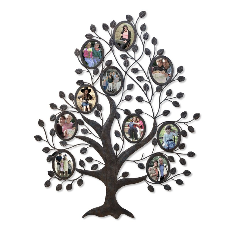 Medlock 10 Opening Decorative Family Tree Wall Hanging Collage