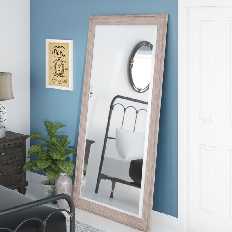August Grove White Wash Leaner Full Length Mirror Reviews Wayfair
