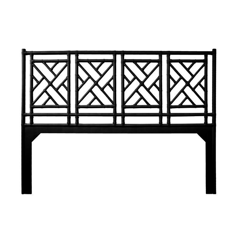 Chinese Chippendale Open Frame Headboard