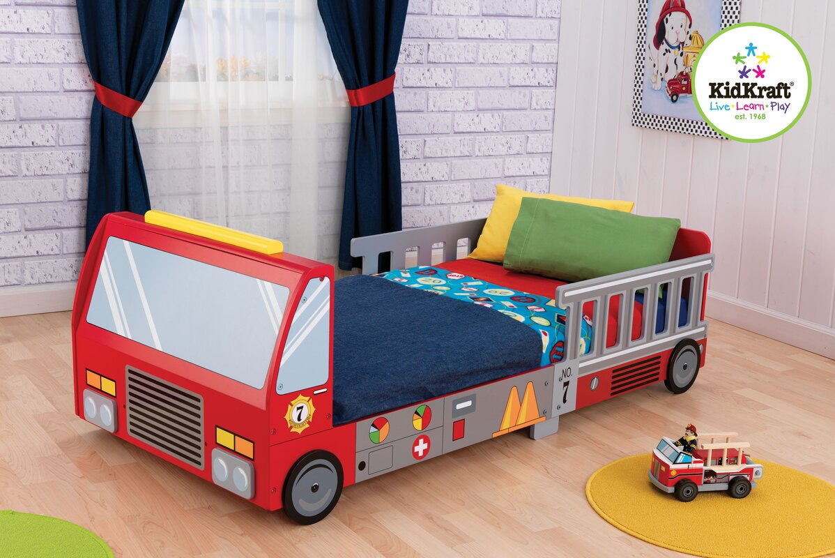 Kidkraft Firefighter Toddler Car Bed Reviews Wayfair