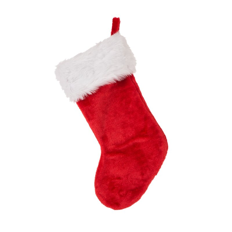 085cbb732ed The Seasonal Aisle Traditional Plush Santa Christmas Stocking ...