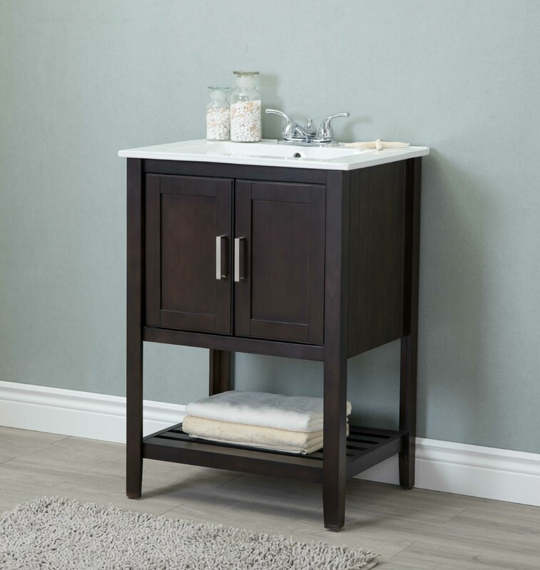 "andover mills reynal 24"" single bathroom vanity set & reviews"
