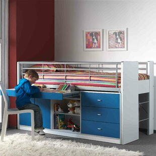 Bonny European Single Mid Sleeper Bed with Storage by Just Kids