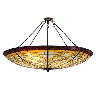 Wicker basket pendant light wayfair basket weave 6 light bowl pendant aloadofball Choice Image