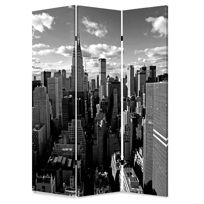 New York Skyline 3 Panel Room Divider