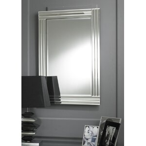 Modern Rectangular Clear Triple Bevelled Accent Mirror