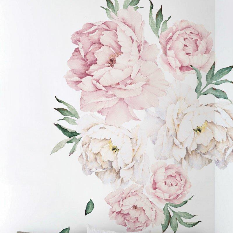 82f80eced0b Peony Flowers Wall Decal