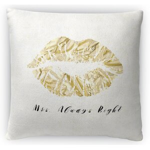 Mrs Right Fleece Throw Pillow