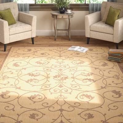 Charlene Beige Brown Area Rug