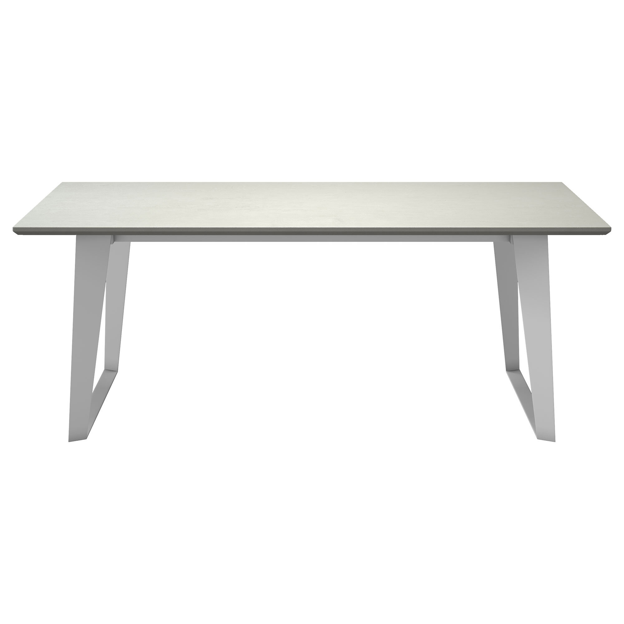 Amsterdam steel concrete dining table reviews allmodern