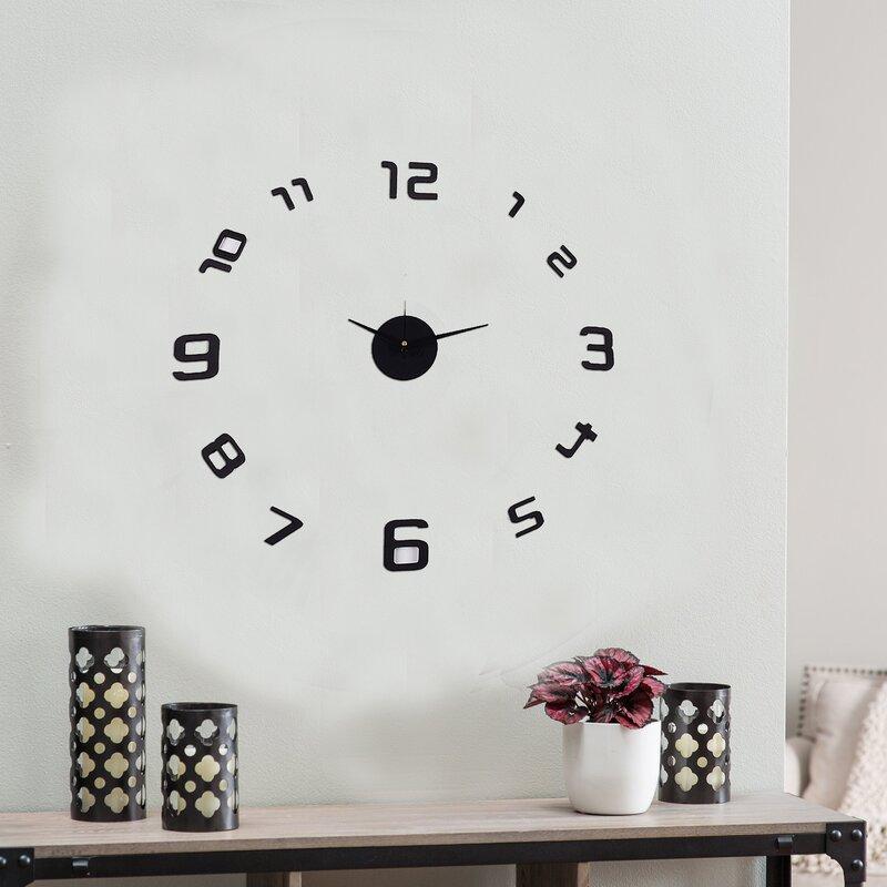 Skelton Frameless Wall Clock