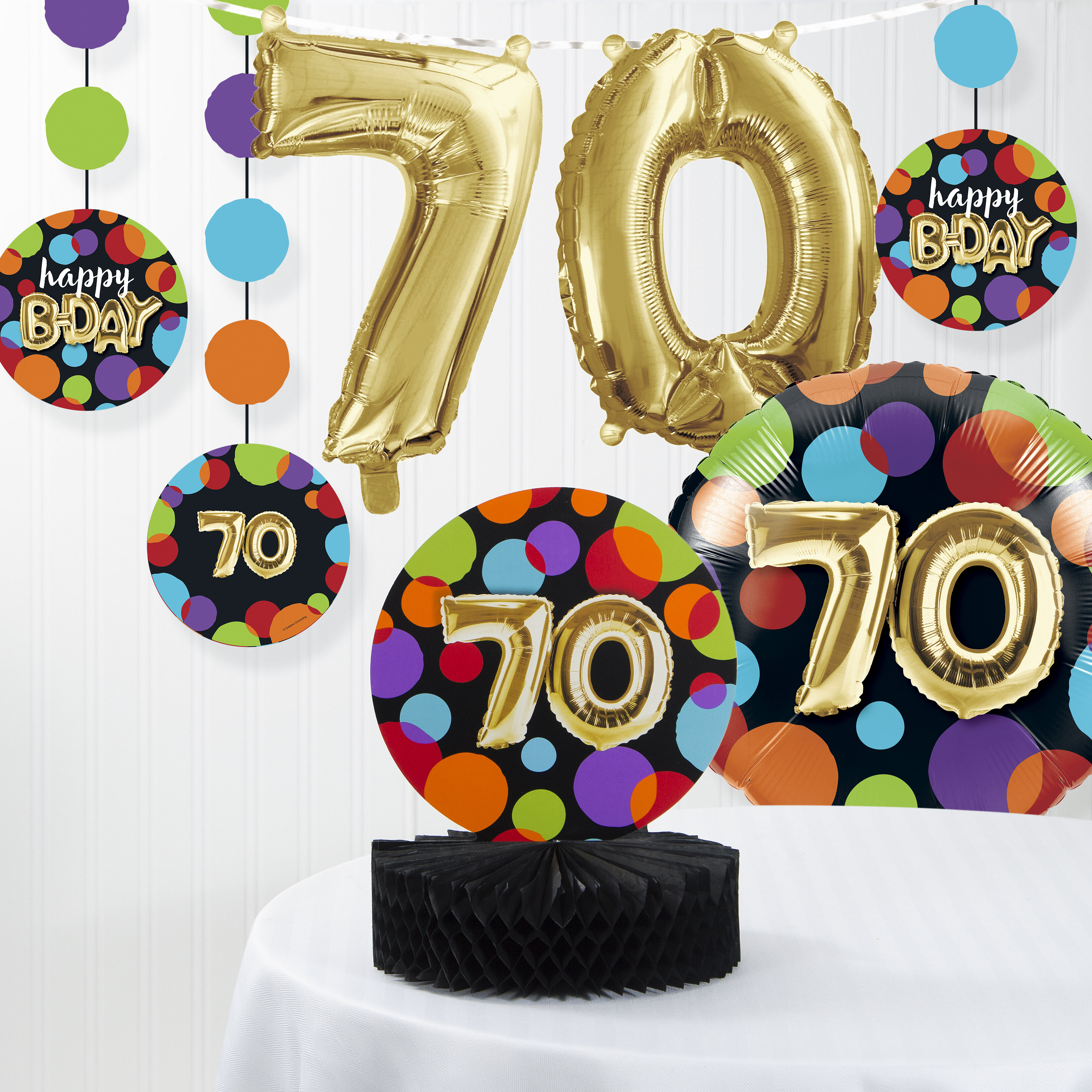 The Party Aisle Balloon 70th Birthday Decorations Kit