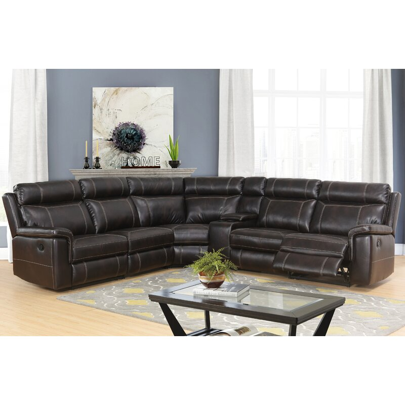 Darby Home Co Winter Reclining Sectional With Console Wayfair
