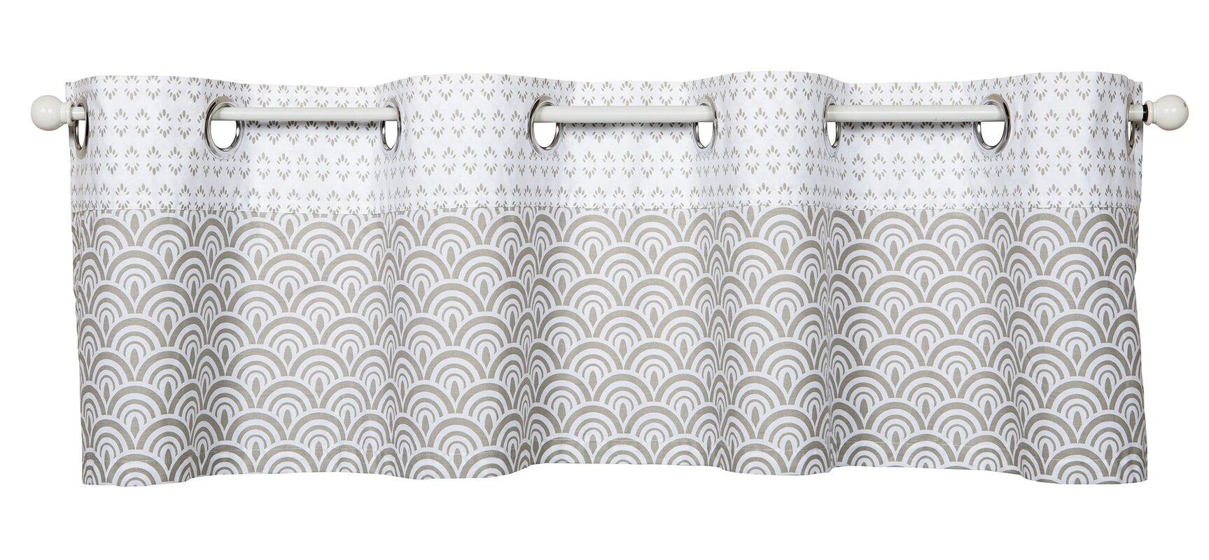 Geometric Valances \u0026 Kitchen Curtains You\u0027ll Love | Wayfair