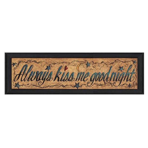 Always Kiss Me Goodnight Wall Art | Wayfair