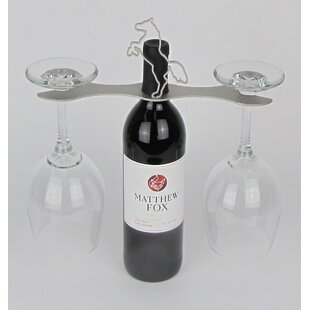 Laser Cut Steel Stall 1 Bottle Tabletop Wine Rack