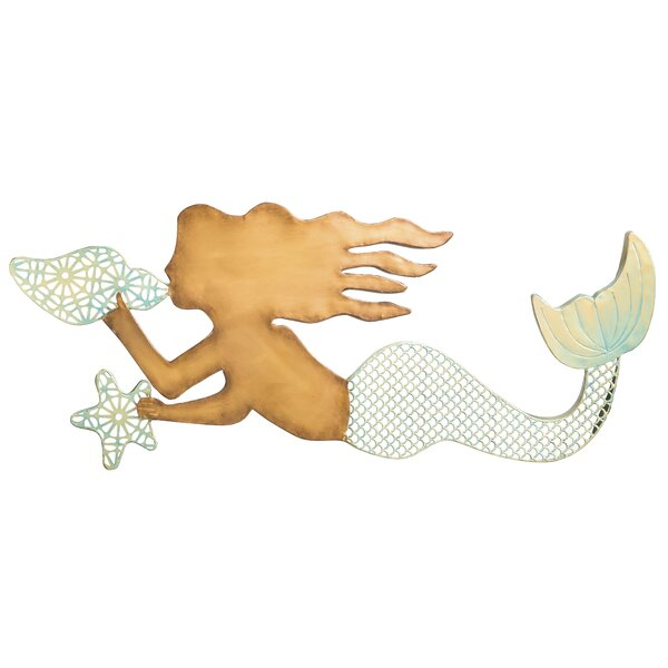 Beachcrest Home Metal Mermaid Wall Decor U0026 Reviews | Wayfair
