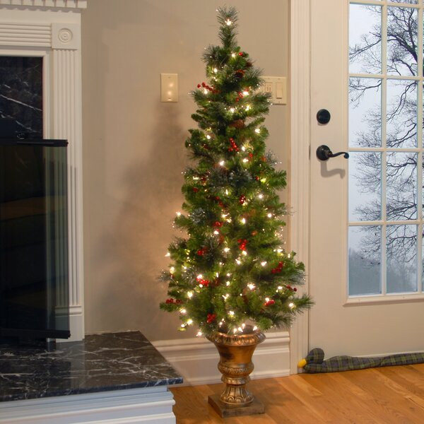 Three Posts Spruce Entrance Green Artificial Christmas