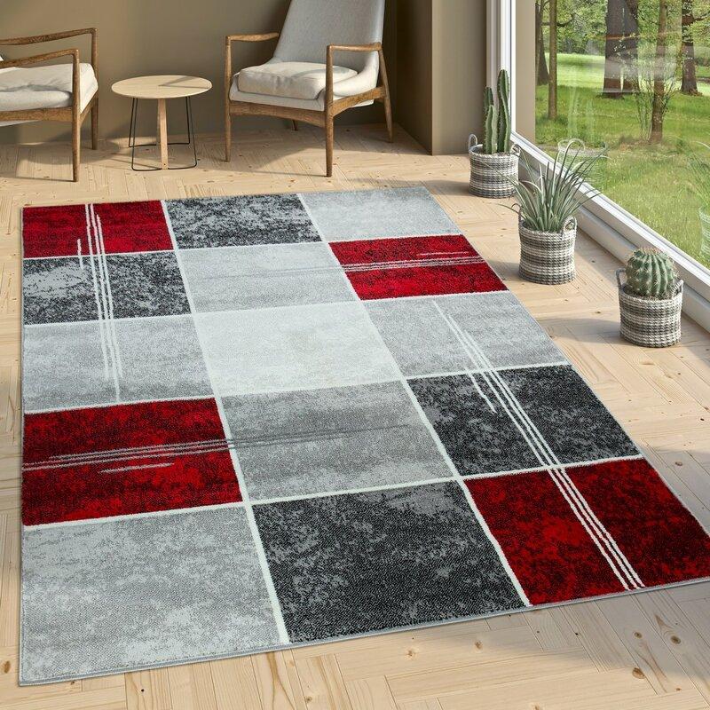 longweave teppich ayanna in grau schwarz rot bewertungen. Black Bedroom Furniture Sets. Home Design Ideas