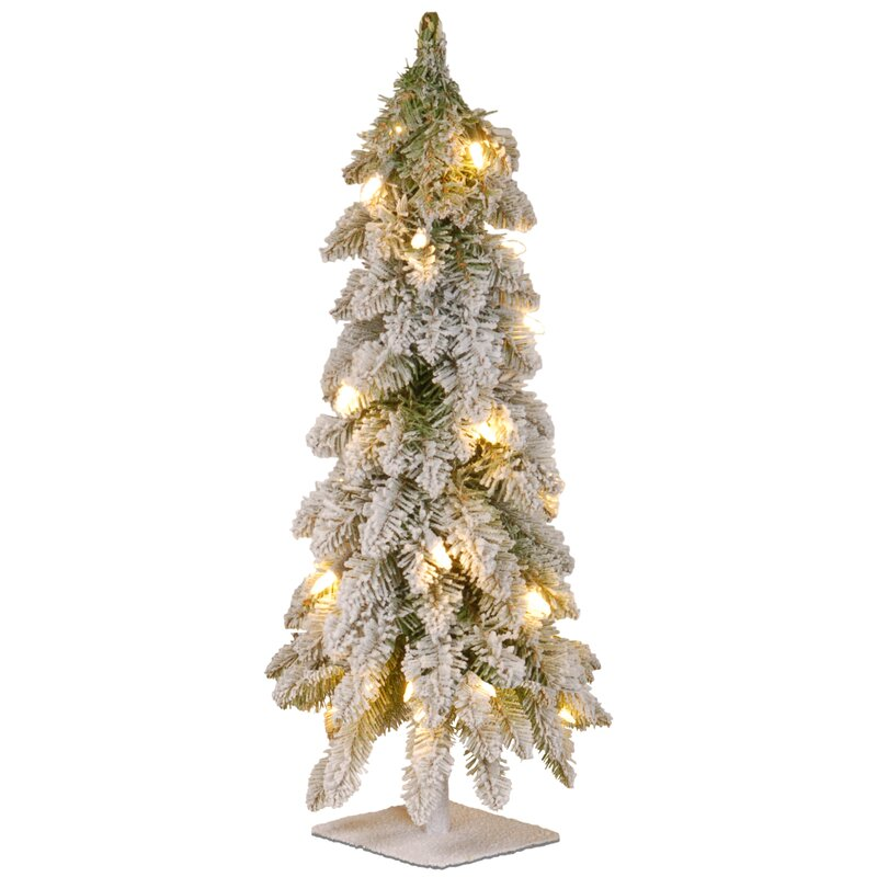 24 White Artificial Christmas Tree With 50 Clear Lights