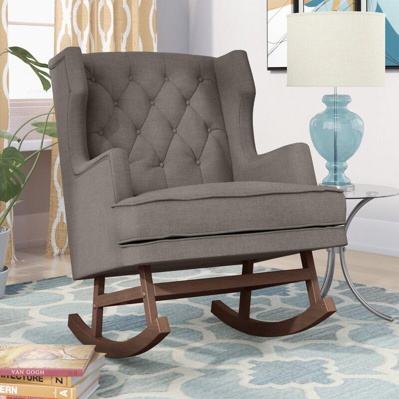 harriet bee myrna rocking chair reviews wayfair rh wayfair com living room rocking chair uk living room glider rocking chairs