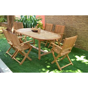 Teak Patio Dining Sets Youll Love Wayfair - Oval teak outdoor dining table