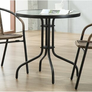 round outdoor table. Bemadette Round Patio Bistro Table Outdoor