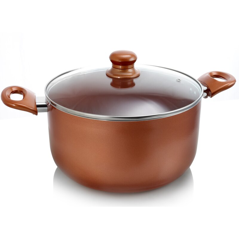 Better Chef 10 Qt. Ceramic Coated Round Dutch Oven with Lid