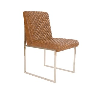 Croskey Cognac Quilted Upholstered Dining Chair