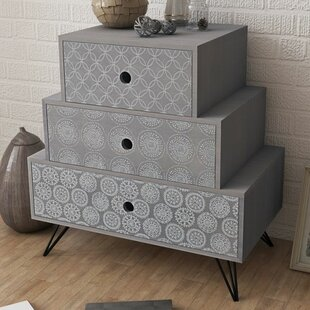 Finnian 3 Drawer Bedside Table