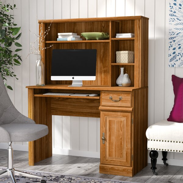 amish full hutch wood doors pid deluxe secretary top p computer solid desk with