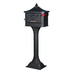 Locking Mailbox with Post Set (Set of 2)