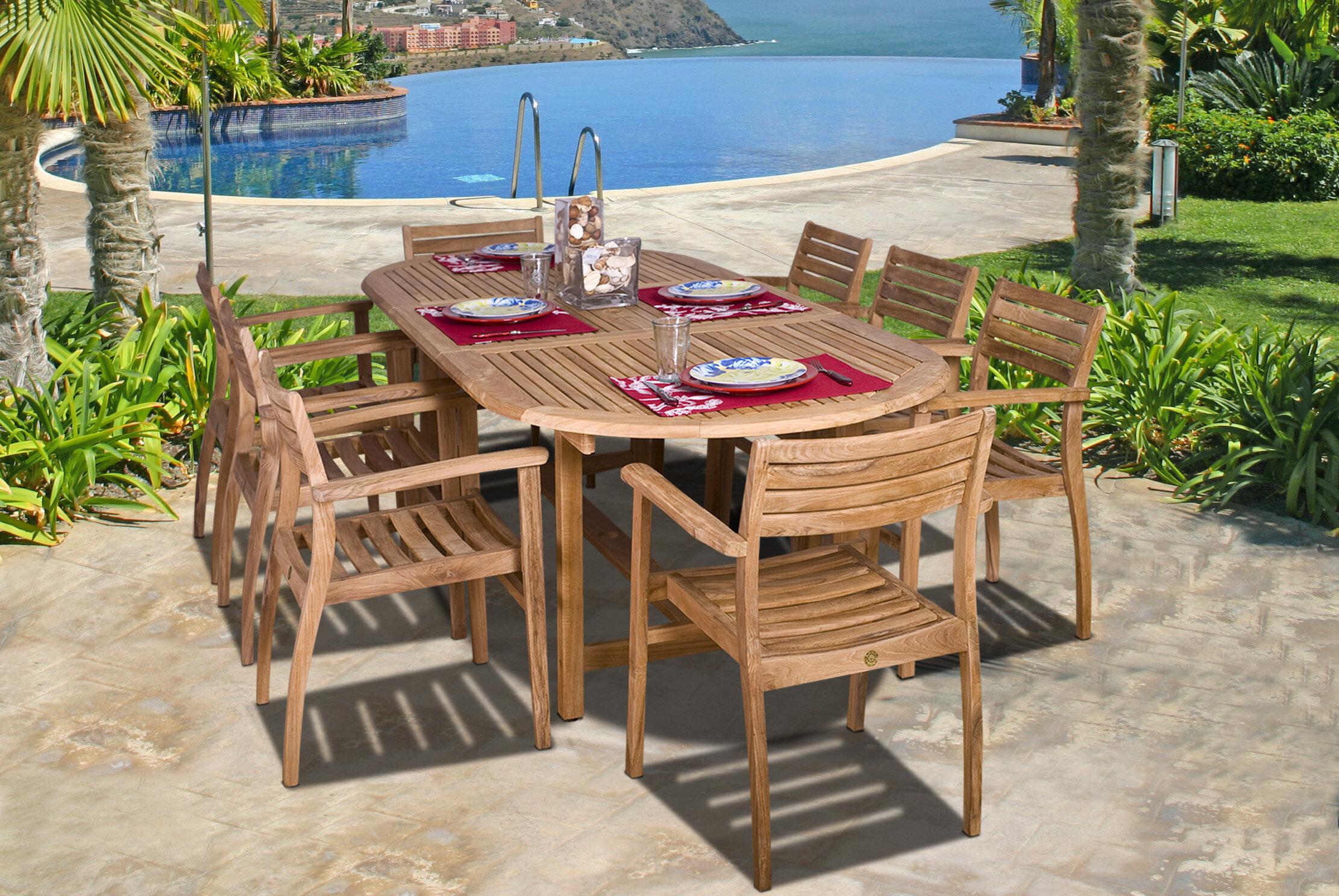 Beachcrest Home Elsmere 9 Piece Dining Set & Reviews