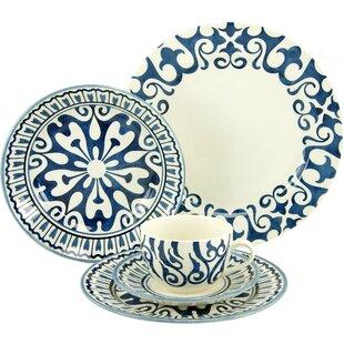 Henna Blue 30 Piece Dinnerware Set Service for 6  sc 1 st  Wayfair & Mediterranean Dinner Set   Wayfair.co.uk