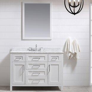 Tahoe 48 Set De Vanite Salle Bain Simple Avec Miroir