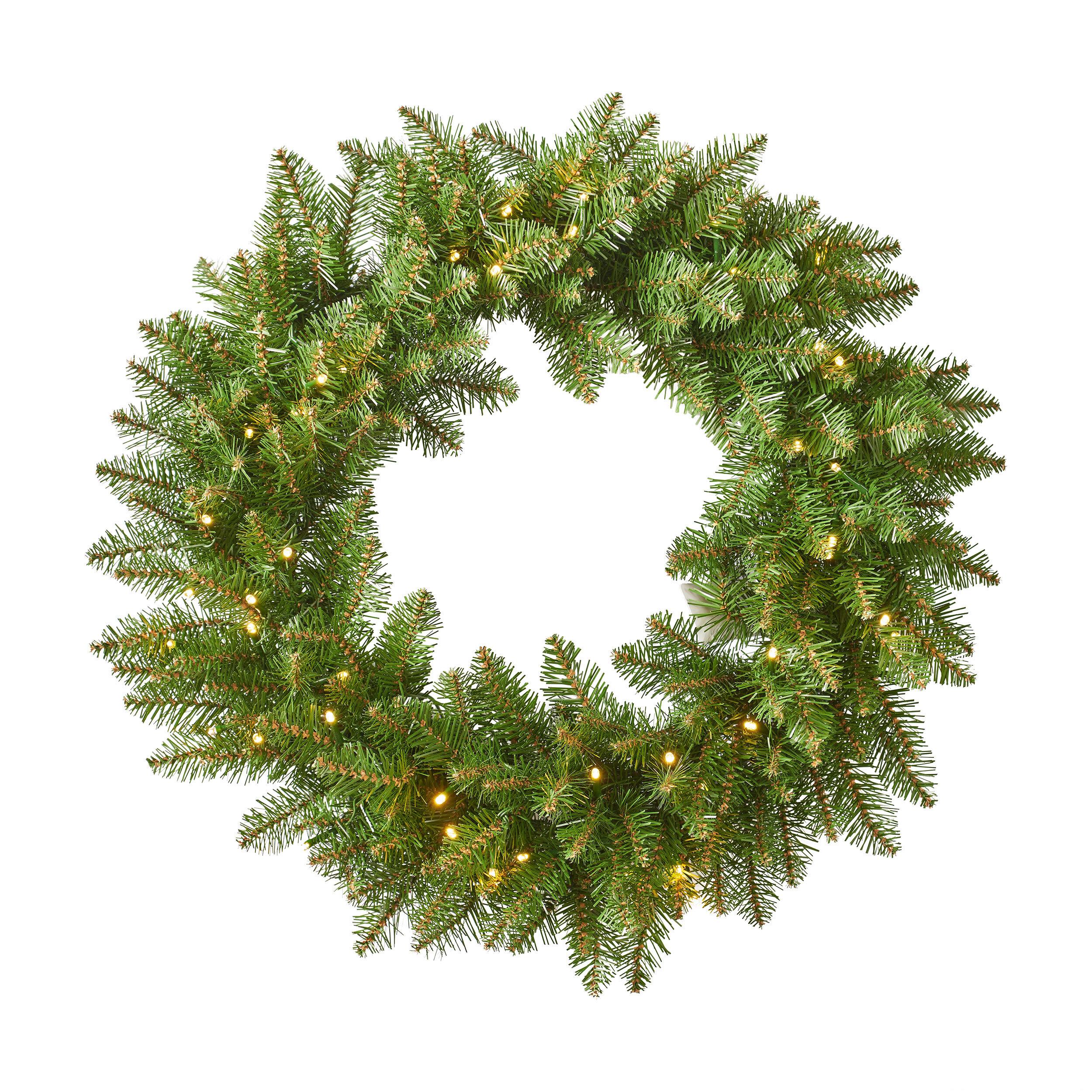 The Holiday Aisle Dunhill Fir Christmas 24 Lighted Pvc Wreath Wayfair Mild 20